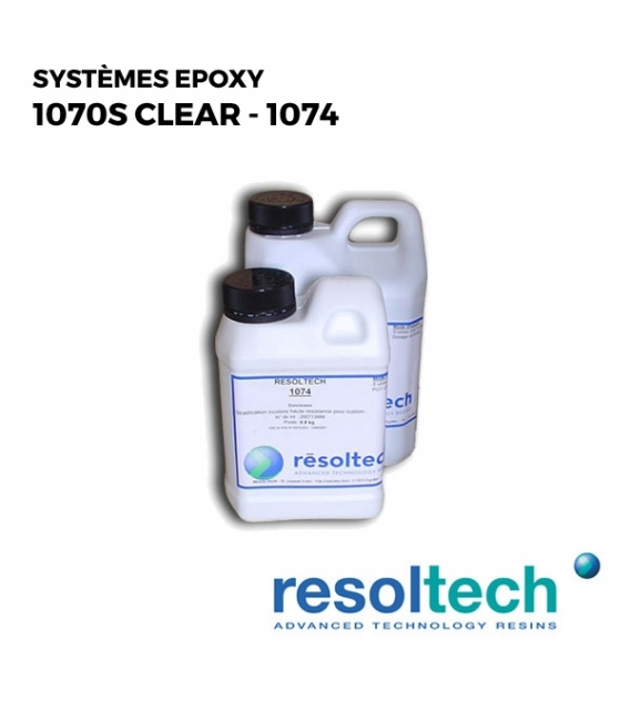 Kit 2.8kg Résines époxy 1070S clear - 1074 RESOLTECH