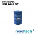 Fut 280kg Résines époxy 1070S clear - 1074 RESOLTECH