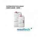 Kit 6.9kg résines époxy de glaçage 4000 CLEAR - 4005 RESOLTECH