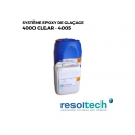 Kit 34.5kg résines époxy de glaçage 4000 CLEAR - 4005 RESOLTECH