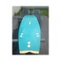 Planche résine teintée avec pâte pigmentaire époxy RAL 5018