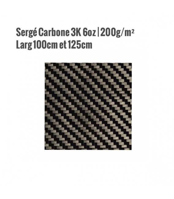 SERGE Carbone 3K 200G/M² LARG 100cm / 125cm - HEXCEL 43200