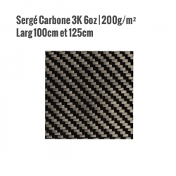 Tissu Carbone Sergé 3K 200gr/m²