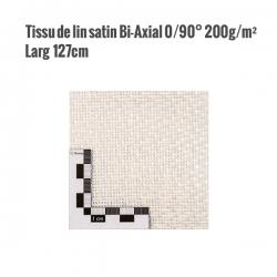 Fibre naturelle de lin blanchi 0/90° 200g/m² largeur 1270mm