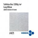 Tissu de verre Taffetas 200gr/m² larg 80cm - Hexcel 471