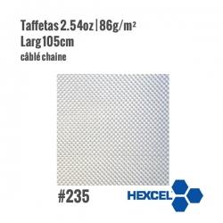 Tissu de verre taffetas 86gr / m² Hexcel 235