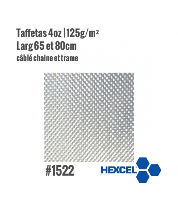 Tissu de verre taffetas 125gr/m² Hexcel 1522