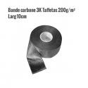 Bande CARBONE - Taffetas 6oz|200g/m² - Larg 10cm