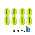 sets quad de plugs FCS II jaune / Acid Yellow