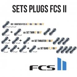 Sets de plugs FCS II pour fixation dérives surf