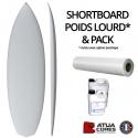 Shortboard poids lourds pack tissus de verre et résines