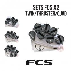 FCS I (X-2) - SET DE PLUGS EN TWIN - THRUSTER - QUAD