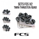 FCS X2 - Plugs en set TWIN - THRUSTER - QUAD