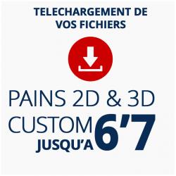 Téléchargez vos fichiers de découpe 2D ou pré shape 3D de pains surf custom jusqu'à 6'7