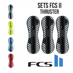 Plugs boitiers FCS II en set thruster Orange