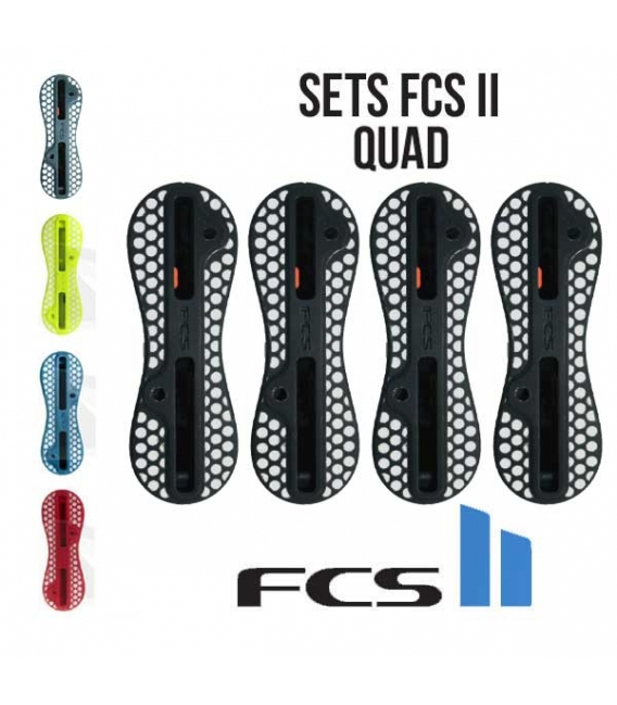 Set QUAD - Boitiers FCS II gris yellow blue orange