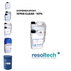 Kit 7kg Résines époxy 1070S clear - 1074 RESOLTECH