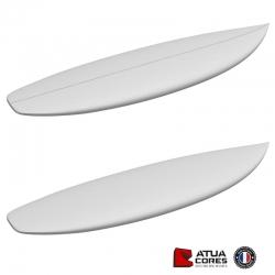 Shortboard poids lourds pain PSE 2D ou 3D Atua latté ou non latté