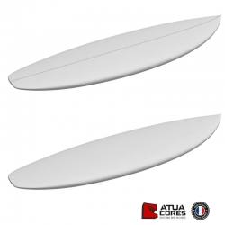 Pain mousse PSE 2D ou 3D latté ou non latté ATUA SHORTBOARD 5'8 / 5'11 / 6'1 PERFORMANCE SQUASH TAIL PETITES VAGUES