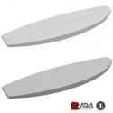 Pains surf standard 6'0 SF Shortboard polystyrène latté