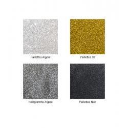 Pigments poudre paillettes OR ARGENT NOIR HOLO
