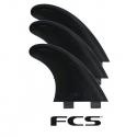 FCS thruster G5 tri fins Black PVC