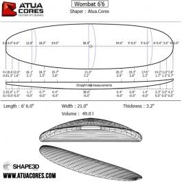 Pré-shape complet 6'6 WOMBAT