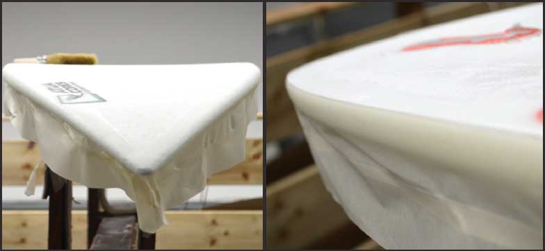 entoilage tissu de verre planche de surf