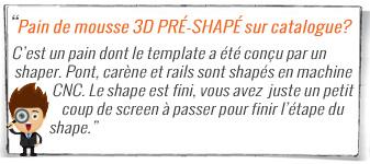 pain surf 3D polystyrène sur catalogue et remise atua pack