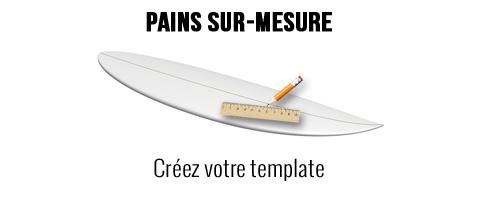 Pain mousse polystyrène sur mesure pour surf longboard SUP windsurf kite pour les sports de glisse jusqu'à 14'6