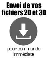 Envoyez-nous vos fichiers 2D ou 3D pour pains custom