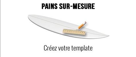 Pains de mousse polystyrène français jusqu'à 14'6 sur mesure